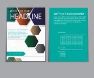Informe del papel de cubierta del diseño Plantilla geométrica abstracta del vector Fotos de archivo