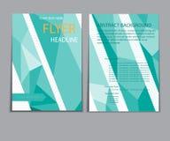 Informe del papel de cubierta del diseño Plantilla geométrica abstracta del vector Foto de archivo
