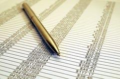 Informe financiero 02 Imagen de archivo