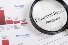 Informe financiero Fotografía de archivo
