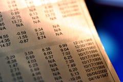 Informe financiero Foto de archivo libre de regalías