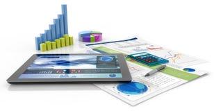 Informe financiero stock de ilustración
