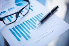 Informe financiero fotos de archivo