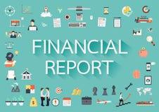 Informe financiero ilustración del vector