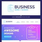 Informe hermoso de la marca del concepto del negocio, médico, papel, ch libre illustration