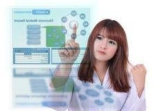 Informe médico electrónico Foto de archivo libre de regalías