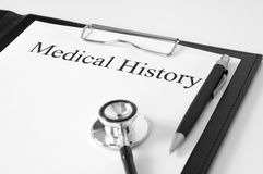 Informe médico Foto de archivo