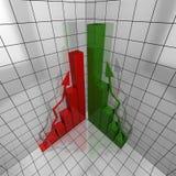Informe verde y rojo 3d Imagen de archivo