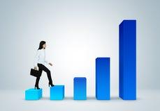 Informe y estadísticas financieros. Concepto del éxito empresarial. Fotos de archivo
