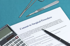 Informed Surgery Consent Royalty Free Stock Photo