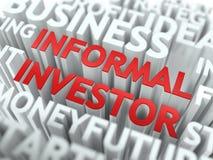 Informell aktieägare - rött Wordcloud begrepp Royaltyfri Bild