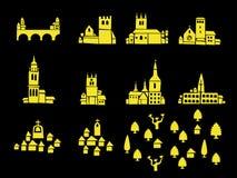 informella arkitektoniska symboler Royaltyfri Foto
