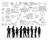 Informerar geometri för det matematiska symbolet för formelmatematiklikställanden arkivfoto