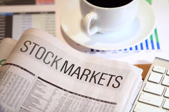 Informes del mercado de acción Fotografía de archivo