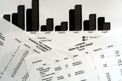 Informes financieros Fotografía de archivo