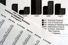 Informes financieros Imagen de archivo libre de regalías