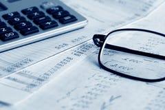 Informes financieros. Imagen de archivo libre de regalías