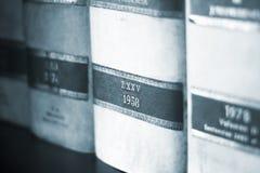 Informes legales de la ley de los libros fotos de archivo libres de regalías