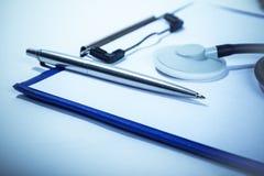 Informes médicos de manutenção Fotografia de Stock