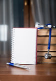 Informes médicos, libros Fotografía de archivo