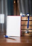 Informes médicos, livros Fotografia de Stock