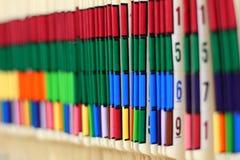 Informes médicos codificados cor Imagens de Stock