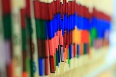 Informes médicos tabulados color Foto de archivo libre de regalías