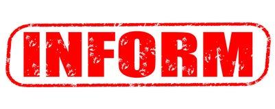 Informez le timbre rouge image stock