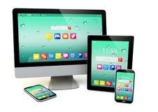 Informática, mobilidade e conceito do negócio de uma comunicação Imagem de Stock Royalty Free