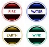 Inforni il vento della terra dell'acqua Immagine Stock Libera da Diritti