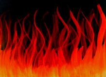 Inforni l'acquerello arancio rosso caldo ardente preso isolato illustrazione di stock