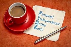 INFORNI - l'indipendenza finanziaria, si ritira presto fotografie stock