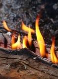 Inforni la fiammata, il fuoco, l'infornamento, fiamma Fotografie Stock