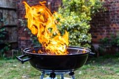 Inforni le collere in un barbecue nel giardino Immagini Stock Libere da Diritti