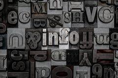 Infos d'impression typographique Photo stock