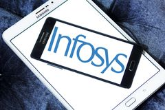 Infosys ha limitato il logo fotografia stock