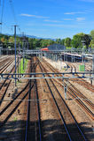 Infra-estrutura da estrada de ferro Fotos de Stock Royalty Free