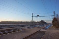 Infra-estrutura elétrica da estrada de ferro Fotos de Stock