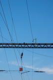 Infra-estrutura elétrica da estrada de ferro Fotos de Stock Royalty Free