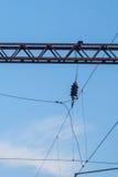 Infra-estrutura elétrica da estrada de ferro Fotografia de Stock Royalty Free