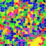 Infra full color mosaic pattern background with white grout Stock Photos