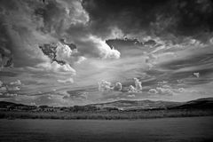 Infra red photography. Of landscape with beautiful sky Stock Photo