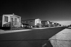 Infra red shot of caravans. Stock Photo