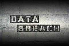 Infracción de los datos Fotos de archivo