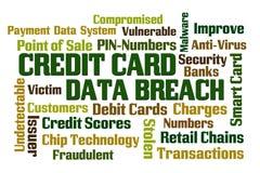 Infracción de los datos de la tarjeta de crédito Foto de archivo libre de regalías