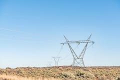 Infraestructura de la electricidad Imágenes de archivo libres de regalías