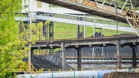 Infraestructura de la explotación minera en Silesia, Polonia Imágenes de archivo libres de regalías