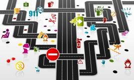 Infraestructura de la seguridad Imágenes de archivo libres de regalías
