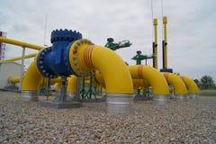 Infraestructura 1 del gas Imágenes de archivo libres de regalías