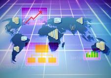 Infraestructura del negocio stock de ilustración